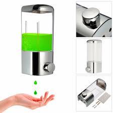 Wall Mounted Bathroom Lotion Shampoo Liquid Soap Dispenser ...