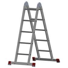 Купить <b>Лестница</b>-<b>трансформер</b> алюминиевая 2х5 ступеней ...