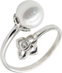 Серебряное <b>кольцо</b> Эстет 01K258209 <b>с</b> искусственным ...