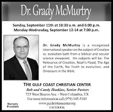 dr grady mcmurty gulf coast christian center dr grady mcmurty