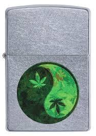 Zippo 207 <b>Yin</b> Yang Marijuana Design ::: альбом <b>Зажигалки Zippo</b> ...