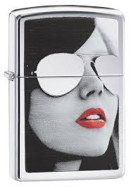 <b>Зажигалка Zippo Sunglasses</b> (28274) серебристая