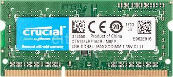 Купить <b>Модуль памяти CRUCIAL</b> CT51264BF160BJ <b>DDR3L</b> - 4ГБ ...