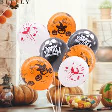 50pcs 12inch Happy <b>Halloween balloon festival</b> backdrop hanging ...