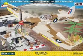 Пластиковый <b>конструктор</b> Самолет <b>Supermarine</b> Spitfire Mk.IX ...