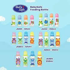 BabySafe Feeding Bottle - <b>JS001</b> JS002 JS003 JS004 JS005