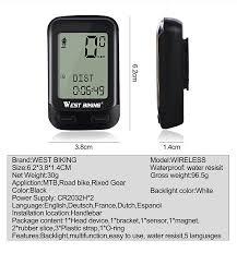 west biking bike computer bicycle wireless stopwatch 5 languages waterproof odometer speedometer cycling