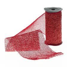 Kaemingk <b>Декоративная лента</b> Сверкающая <b>Сетка красная</b> 270 ...