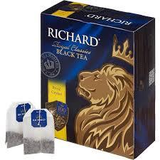 <b>Чай Richard</b> Royal Ceylon <b>черный</b> сашет 2гx100пак 61066, 13936