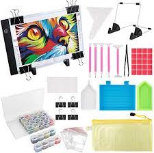 (59PCS) Diamond Painting A4 LED Light Pad Kit, DIY ... - Amazon.com