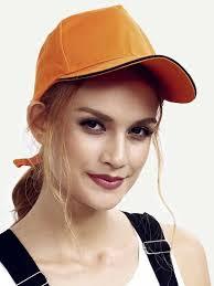 Оранжевая модная кепка | SHEIN Россия