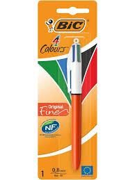 <b>Ручка шариковая</b>, синий, чёрный, красный, зелёный, <b>BIC</b> 4 ...