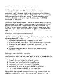 calaméo   soil erosion essay  useful suggestions and guidelines to    soil erosion essay  useful suggestions and guidelines to write