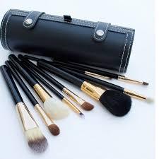<b>Makeup Brushes</b> Set Kit <b>9 Pcs Travel</b> Beauty Professional Wood