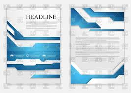 abstract blue geometric tech flyer design vector image 97461 abstract blue geometric tech flyer design click to zoom