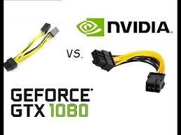 GeForce EVGA GTX 1080, PCI-E 6 pin x <b>2</b> to <b>8 pin</b> Adapter vs 6 pin ...