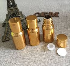 <b>high</b>-<b>grade 100pcs gold</b> glass 10ml essential oils bottles with cap ...