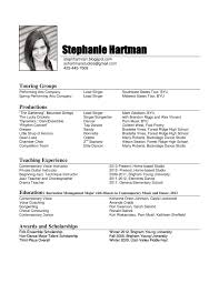 resume musical resume template template musical resume template images full size