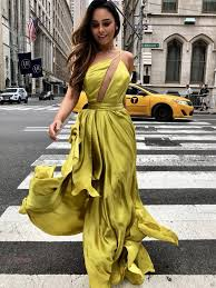 Yellow <b>One Shoulder</b> Backelss Spaghetti Strap <b>Sexy Prom</b> Dresses ...