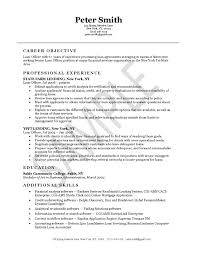 resume example exfi  jpgloan officer resume example
