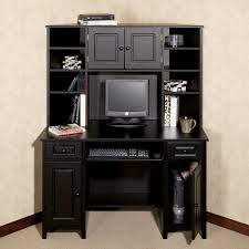 furniture black stained oak wood bedroom desk unit home