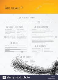 creative simple cv template black lines in footer stock photo creative simple cv template black lines in footer
