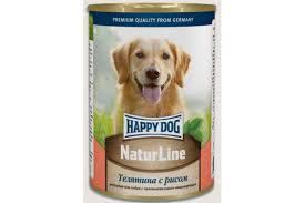 <b>Happy Dog Natur</b> Line <b>консервы</b> для собак Телятина с рисом, 400 г