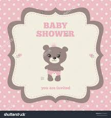 baby shower invitation template pink brown stock vector  baby shower invitation template pink brown and cream colors illustration of little