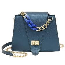 China <b>Classic PU Leather</b> Metal Chain Strap Shoulder Bag <b>Fashion</b> ...