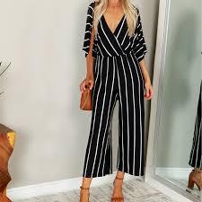 <b>2019 Zanzea 2019 Summer</b> Elegant <b>Women</b> Striped Jumpsuits Ol ...
