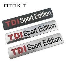 Metal Red <b>TDI</b> Sport Edition Logo Turbo <b>Car</b> Letter Sticker Emblem ...