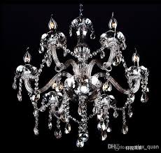 whole modern crystal chandeliers european glass candle pendant lamp decorative bedroom living room lighting fixture candle decorative modern pendant lamp