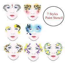 Amazon.com: <b>7 Styles</b>/set Reusable DIY Face <b>Paint</b> Makeup Stencil ...