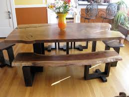 wood slab dining table beautiful: furniture  unique designs wooden diy dining set all wooden