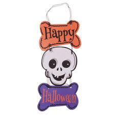 <b>HALLOWEEN</b> PLAQUE scary <b>skeleton</b> ghost haunted <b>house</b> ...