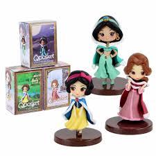 12cm Q Posket <b>Princess</b> Figure Mulan Snow White Rapunzel Figure ...