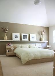 astounding bedroom design ideas with floating wooden shelves over unfinished cherry wood platform bed on cream bedroom furniture sets ikea