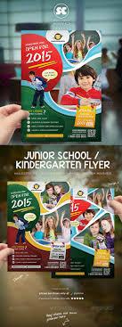 kindergarten junior school flyer flyers promotion and kindergarten kindergarten junior school flyer