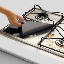 <b>Gas</b> Hob <b>Range Protectors</b> Set of 8 <b>Non</b>-<b>Stick</b> Reusable <b>Cooker</b> ...