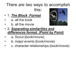 point by point essay format compare and contrast essay for to kill a mockingbird book vs  there point by point essay format