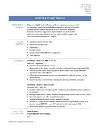 resume examples sample resume waiter waiter resume sample cv english waitress sample waiter cv sample 1 careerride waitress sample resume for waitress position no