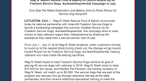 Wag N' Wash® Natural Food & Bakery to Launch Round Up for ...
