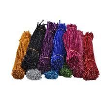 <b>100Pcs Coloured</b> Glitter <b>Chenille</b> Stems Pipe Sticks Cleaners For Art ...