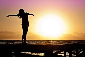 Image result for girl alone with rising sun pic