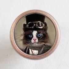 Cat <b>Drawer Knobs Pulls Handles</b> / Kitchen <b>Cabinet Knobs</b> Handle ...