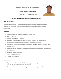 doc 12751650 example resume sample resume for teaching job examples of cv for teachers