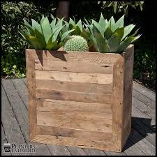 garden planter patio wooden planters material