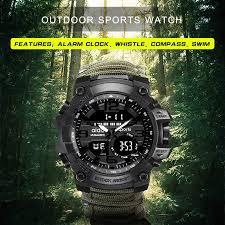 Sports <b>Men's watch 50m</b> Compass Multifunction Military ...