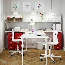 home office units. looking for a cooperative home office check out this clever combination of white hissmon table two and contrasting helmer drawer units in red s