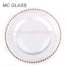 charger plates decorative: high quality kitchen decorative gold silver glass beaded charger plate wholesale